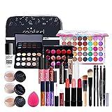 Aznever Set De Maquillaje | Set Cosmético De Viaje Portátil Profesional con Bolsa De Maquillaje | Regalos De Maquillaje para Chicas Adolescentes
