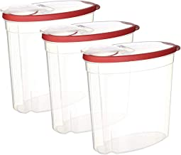 Rubbermaid 745176257628 Cereal/Snack Storage Container Each 1.5 Gal 3-Pack, 1.5 Gallon, Red