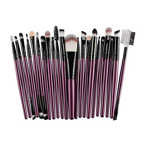 DDG EDMMS Set de Pinceles de Maquillaje de 25 Piezas Premium Long Handel Makeup Brush Kit de Maquillaje Profesional para Mujeres (púrpura)