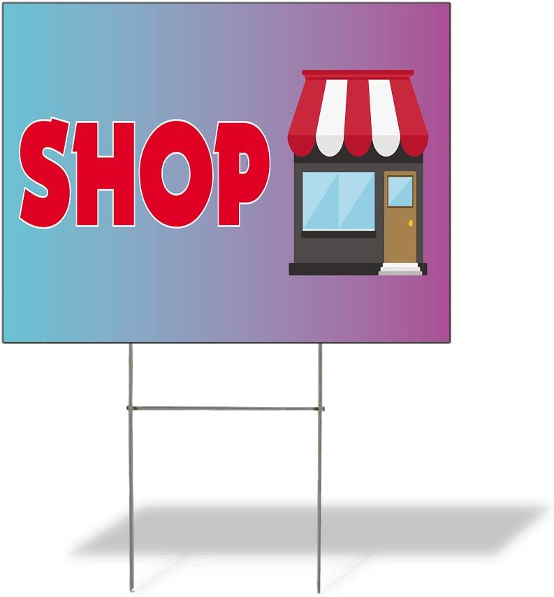 Fastasticdeals Weatherproof Yard Sign Shop Limited time sale Advertising Price reduction Outdoor P