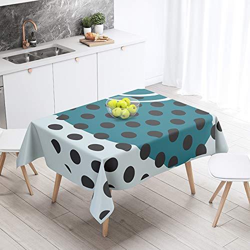 xiaopang Mantel de algodón rectangular de hoja de color crema mantel paños tejido de satén lavable resistente decorativo cubierta de mesa cocina cena fiesta 100* 140 cm