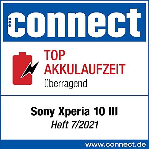 Sony Xperia 10 III 5G Smartphone (15,2 cm 21:9 Wide Full HD+ OLED Display, Triple-Kamera System, Android 11 SIM Free, 6 GB RAM, 128 GB Speicher), Schwarz