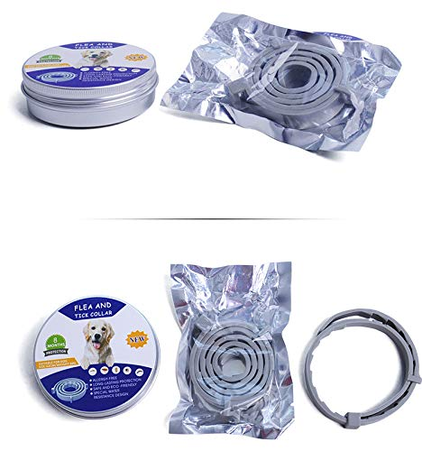 Adjustable Flea and Tick Collar for Small, Medium and Large Dogs - Waterproof | Flea Treatment for Dogs | - 8 Months Effectiveness Protection - Natural Essential Oil |Dog Collar