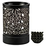 ElusiaKa Wax Melt Warmer Metal Oil Burner Electric Candle Wax Warmer Burner Melter Fragrance Warmer for Home Office Bedroom Aromatherapy Gift& Décor
