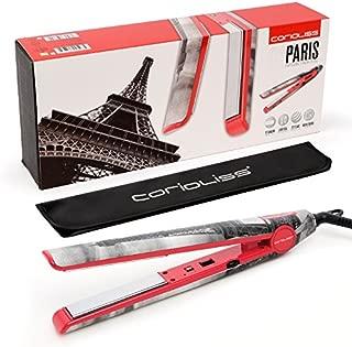 "Corioliss C1 Professional Titanium Hair Styling Iron, Limited Edition Landmark Paris, 2 Year Warranty, 1"" Titanium Plates, Negative Ion, Dual Voltage, Heat Resistant Pouch included"