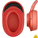 Geekria Earpad Replacement for Sony MDR 100ABN WH H900N Headphone Replacement Ear Pad Earpads Ear Cushion Ear Cover Earpads Repair Parts (Red)