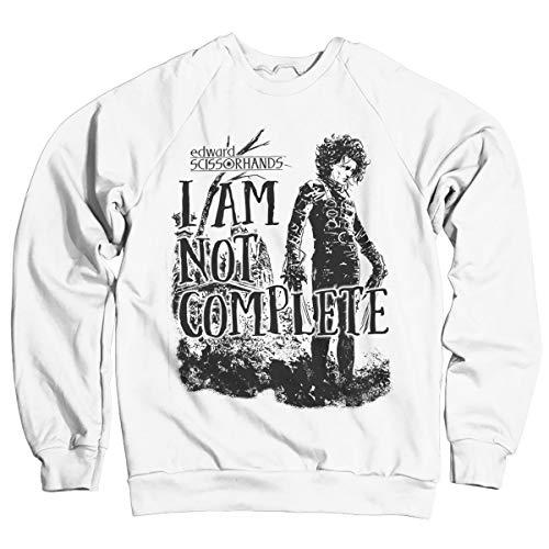 Edward Scissorhands Officiellement sous Licence I Am Not Complete Sweatshirt (Blanc) Small