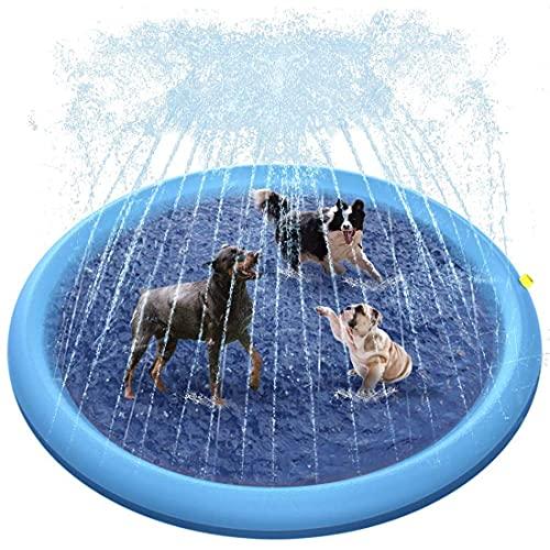 KUMADAI Bañera para Perros, Piscina Perros Plegable Plastico Grande Rigida Piscina Infantil Verano Al Aire Libre, para Bebés, Niños Pequeños Y Mascotas,Azul,S 39 In