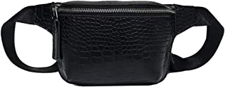 Waymine Women's Shoulder Bag Simple Solid Small Oval Zipper Bag Messenger Bag Coin Phone Chest Bag