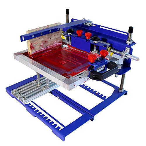 Curved Screen Manual Factory Printing Machine Silk Screen Printing Machine Screen Printer Manual Printing Ink Printing for Plastic Material Cup Cap DIY Printing Products