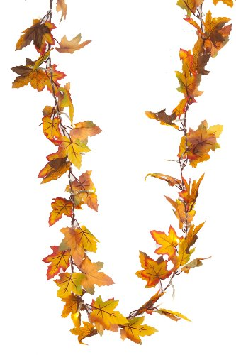 Heitmann Deco Led-lichtsnoer met motief van esdoornbladen, herfst decoratieve slinger met 20 leds, werkt op batterijen, binnen