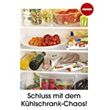Klemm-Schublade für Kühlschrank 3er-Set transparent Schublade Aufbewahrungsbox Kühlschrankbox Schublade Aufbewahrungskiste Gemüsefach Kühlfach Gemüseschale Fach Zusatzfach - 3