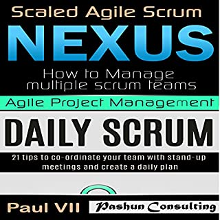 Agile Product Management: Scaled Agile Scrum: Nexus & Daily Scrum, 21 Tips to Coordinate Your Team audiobook cover art
