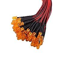 拡散レンズ、拡散 LED ダイオード、ボート産業用車のマルチカラー DIY コンピューティング(Orange(#2), 5mm)