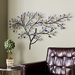 Harper Blvd Willow Multicolor Metal/ Glass Tree Wall Sculpture