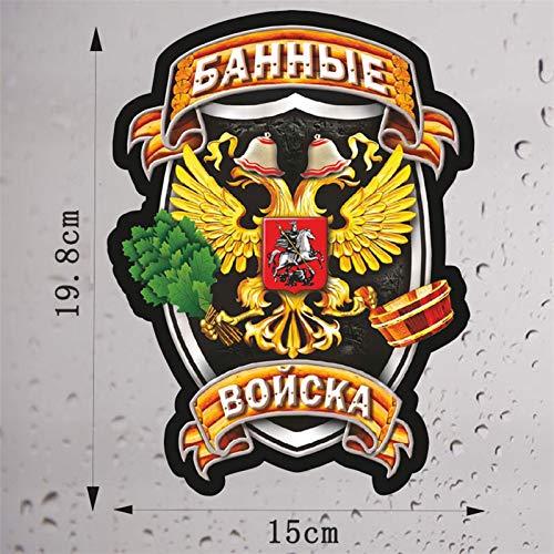 Pegados a los coches Voyska Troops Pegatinas de PVC para automóviles Fresco Eagle Auto Productos Decoración Impermeable Coche Ventana Puertas Declaraciones Accesorios con estilo (Color Name : 4408)