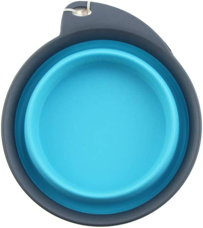 FOREVERYOU Folding Bowl Pet Bowl Dog Bowl Dog Basin Water Supply Dual Bowl, E