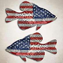 Aftershock Decals American Flag Crappie Fishing Decal Angler Boat Sticker