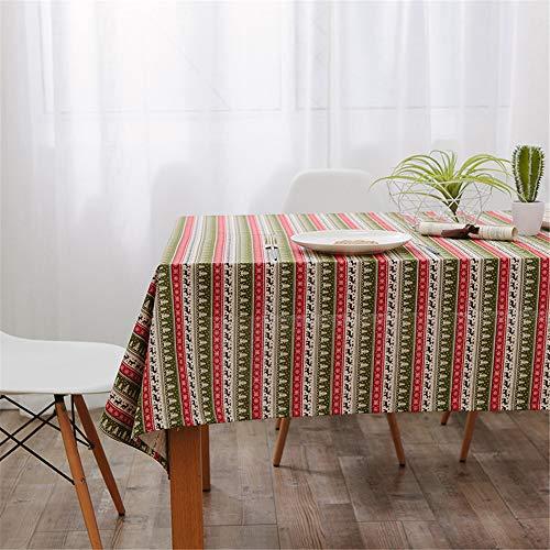 FMYAO Weihnachten Restaurant Tischdecke Haushalt rechteckig Couchtisch Tischdecke Multifunktionshandtuch Outdoor Picknickdecke 145 x 220 cm