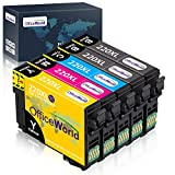OfficeWorld Remanufactured Ink Cartridge Replacement for Epson 220 XL 220XL Used for WF-2760 WF-2750 WF-2630 WF-2650 WF-2660 XP-320 XP-420 XP-424 Printer, 5-Pack (2 Black, 1 Cyan, 1 Yellow, 1 Magenta)