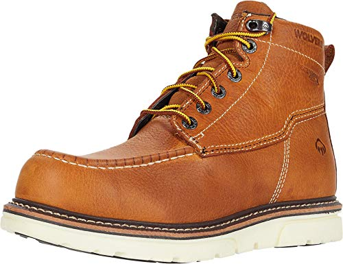 Wolverine mens I-90 Durashocks Moc-toe 6' Work Boot Brown Size: 7 X-Wide
