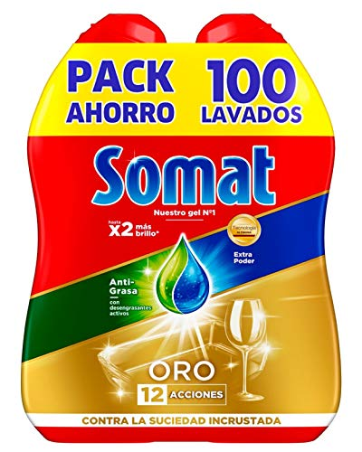 Somat Oro Gel Detergente Lavavajillas Antigrasa - 100 Lavados (1.8 l)