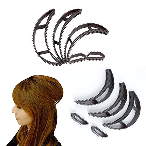 Frcolor Cheveux Bumpit Volume ruche cheveux bosse cheveux Pad Haight outils, Pack de 5 (noir)