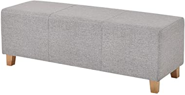 WY&XIAN Rectangular Ottoman Bench Breathable Cotton Padded Sofa Stool Bedroom Bed End Stool Clothing Store Fitting Room R