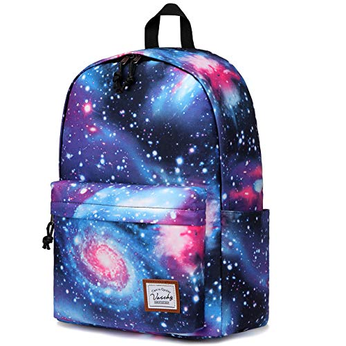 School Backpack for Teen Girls,Vaschy Galaxy Water-Resistant Fashion Daypack Light Weight Rucksack for 15in Laptop