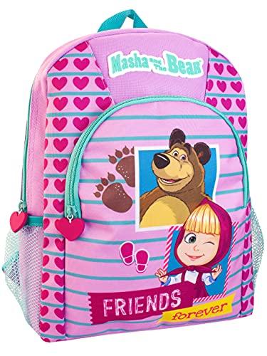 Masha and the Bear Mochila para Niños Morado