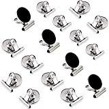 12 Pack Refrigerator Magnet Clips, Super Strong Heavy Duty Metal Whiteboard Magnetic Clips, 30mm Wide Scratch Magnets Hook Clip, for House Office School Use, Home Decoration, Photo Displays (Silver)