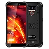 4G Teléfono Móvil Resistente OUKITEL WP5 Pro, Batería de 8000 mAh, Android 10 Smartphone Impermeable IP68, 4 Luces de Flash LED, Helio A25 4GB + 64GB, 13MP + 2MP + 2MP, Reconocimiento Facial Negro