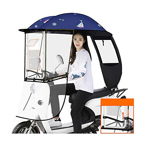 Electric Battery Car Canopy, Suitable For Most Electric Cars, Used For Shelter From Wind, Rain And Sun (Color : B)