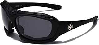 Oversized Choppers Men's Sport Padded Motorcycle Bikers Sunglasses