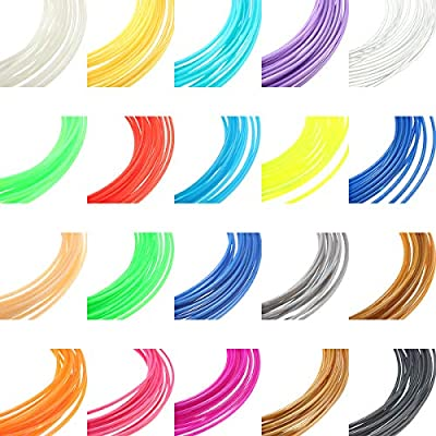 HANO 8 Farben x 10M 1,75 mm Universal-ABS Filament für 3D-Drucker