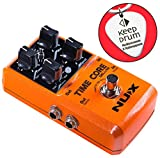 NUX Time Core Deluxe Multi Delay Pedal 8 Delays y Looper función + llavero de púa keepdrum