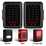 Smoked LED Tail Lights for 2007-2017 Jeep Wrangler Brake Reverse Light Rear Back Up Lights Daytime Running Lamps...