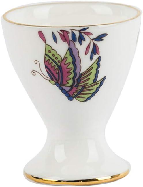 LICEA Porcelain Egg Cup,Ceramic Breakfast Hard Soft Boiled Eggs Holder Stoneware Egg Cups Holder Stands Kitchen Gadgets A 5x6cm