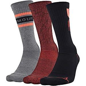 Under Armour mens Phenom Graphic Crew Socks, 3-pairs