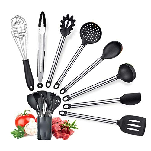 HYZXK Silicone Cooking Utensils Set, 8 Pieces Cooking Set, for Cooking And Baking Heat Resistant Nonstick Spoon Turners Tongs Whisk Scraper