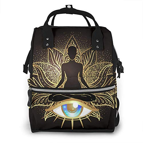 UUwant Sac à Dos à Couches pour Maman Chakra Concept Inner Love Light and Peace Diaper Bags Large Capacity Diaper Backpack Travel Nappy Bags Mummy Backpackling