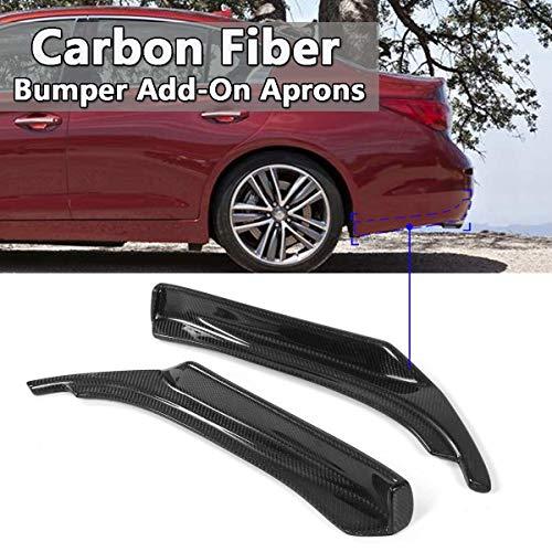 XIANGSHAN Real Carbon Fiber Car Heckstoßstange Splitter Lippen Diffuser Schutzseiten Corner Splitters Schürzen for Infiniti Q50 2014-2017