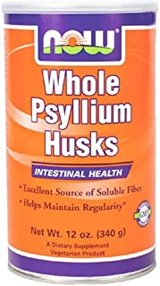 NOW Psyllium Husk Whole, 12-Ounce (Pack of 4)