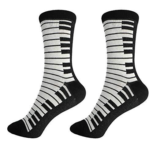 mugesh Musik-Socken Tastatur (39/42) - Schönes Geschenk für Musiker