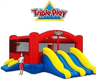 Blast Zone Triple Play Moonwalk Double Slide Combo Bouncer