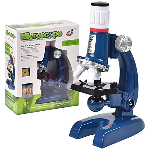 100X 400X 1200X Kids Students LED Compound Science Microscope with Phone Holder