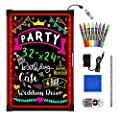 "Woodsam LED Message Writing Board - 32""x24"" Flashing Illuminated Erasable Neon Sign with 8 Fluorescent Chalk Markers - Perfect for Shop/Cafe/Bar/Menu/Wedding/Decoration School from Woodsam"