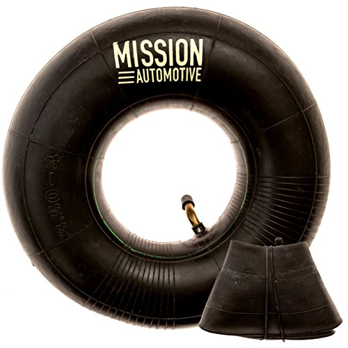 """2-Pack of 4.10/3.50-4"""" Premium Replacement Tire Inner Tubes - For Hand Trucks, Dollies, Wheelbarrows, Lawn Mowers, Trailers and More - Tube for 4.10 3.50-4/410/350-4 Wheel - By Mission Automotive"""