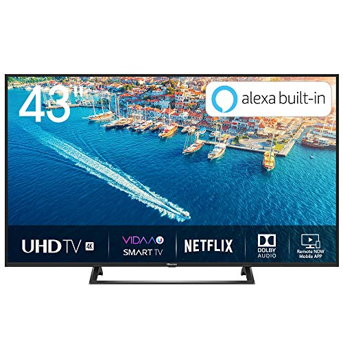 Hisense H43BE7200 Smart TV LED Ultra HD 4K 43', HDR10, Dolby DTS, Single Stand Slim Design, Tuner DVB-T2/S2 HEVC Main10 [Esclusiva Amazon - 2019]