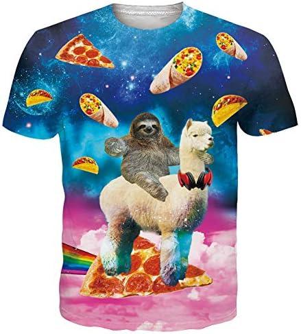 Unisex Camiseta Estampada Hombre Divertidas Manga Corta T Shirt Funny